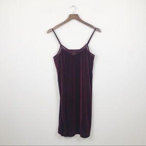 MUDD Burgundy Boho Fitted Velvet Dress Small